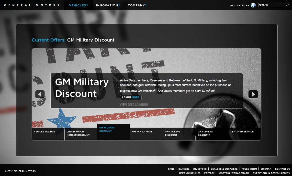 Site US de Général Motors