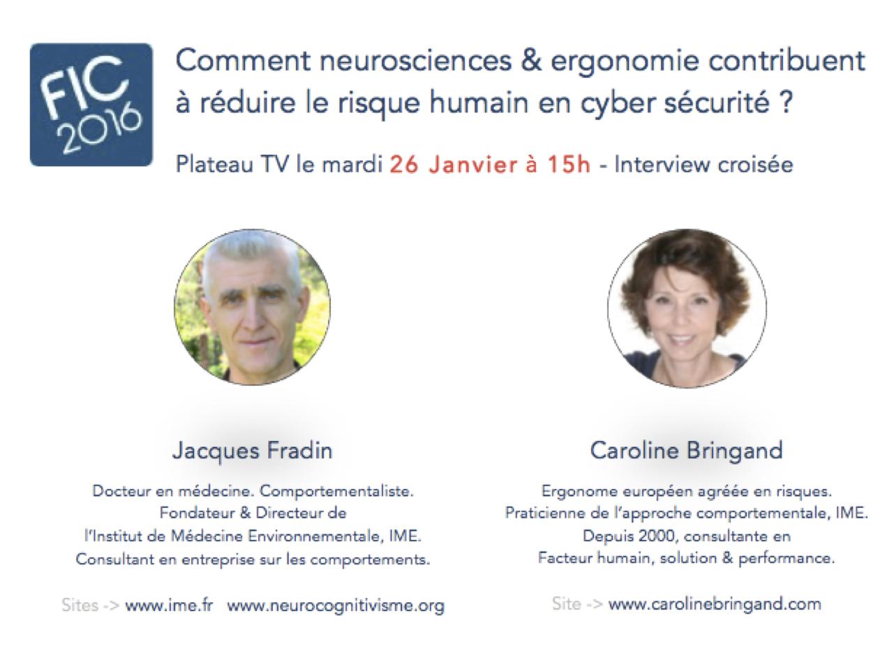 Comment les neurosciences et l'ergonomie contribuent à réduire le risque humain en cyber sécurité ? FIC jan 16 - copie